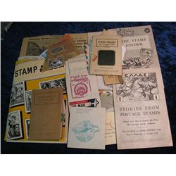 1280. Old Stamp Album With Used Stamps Covers and Misc.