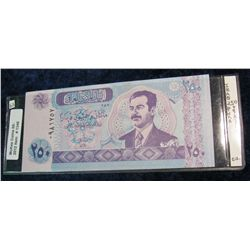 1346. Iraq 250-Dinar Saddam Hussein Bank Note Crisp Unc.