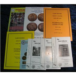 1362. (8) Auction Catalogs, Fixed Price List & INA Books.