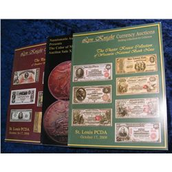 1371. (3) Lynn Knight & Numismatic Auction. Auction Catalogs.