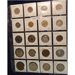 1486. (20) Foreign Coins in 2X2's With Silver.