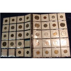 1487. (60) Foreign Coins in 2X2's.