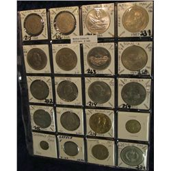 1492. (20) Foreign Coins Mostly Crown Size.