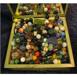 1493. Box Full of Marbles and Agates.
