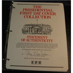 1499. Fancy Album Complete 1986 Presidential First Day Covers.