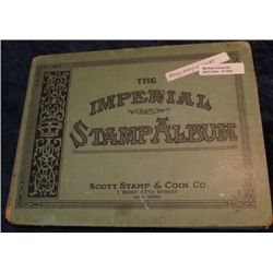 1500. Antique Scott Stamp Co. Album with Lots of Used World Stamps.
