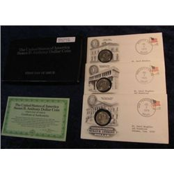 1507. 1979P,D & S Susan B. Anthony Dollars First Day Covers.