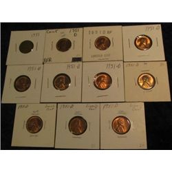 1595. 1951P & (10) 51 D Lincoln Cents. EF-BU.