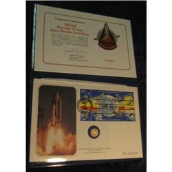 1678. Deluxe Edition Official First Day of Issue Space Shuttle Commemorative