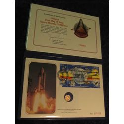 1679. Deluxe Edition Official First Day of Issue Space Shuttle Commemorative Gold Piece in special h