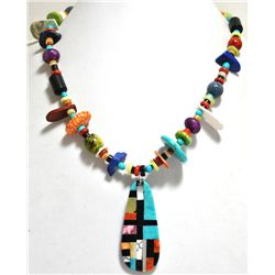 Santo Domingo Multi-Stone & Shell Necklace - Delbert & Torevia Crespin