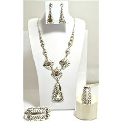 Navajo Sterling Silver 4-Piece Set - Clem Nalwood