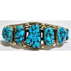 Old Pawn Turquoise Sterling Silver Cuff Bracelet