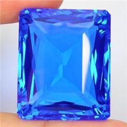 Massive 84.25 CT Emerald Cut Swiss Blue Topaz