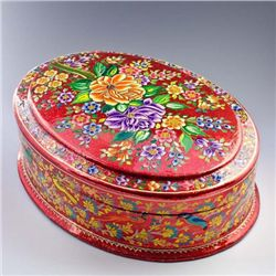 Gorgeous Handpainted Floral Jewelry Box