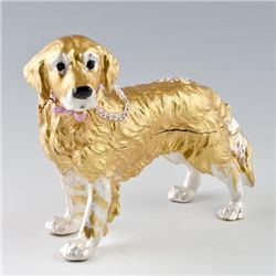 Adorable Retriever Trinket Box