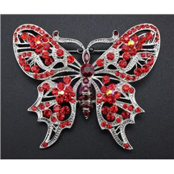 Rhinestone Crystal Butterfly Brooch Pin