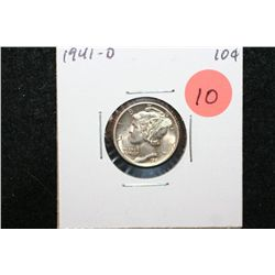 1941-D Mercury Dime