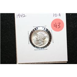 1942 Mercury Dime