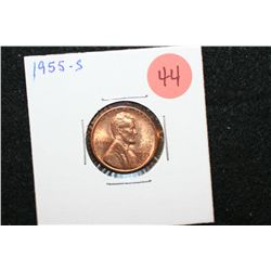 1955-S Lincoln Wheat Back Penny