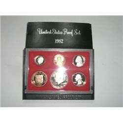 1982-S PROOF Set *HAS THE KENNEDY HALF DOLLAR & DEPT. OF TREASURY COIN - NICE PROOF SET*!!