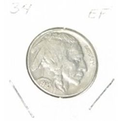1934 BUFFALO NICKEL *RARE EXTRA FINE HIGH GRADE*!!