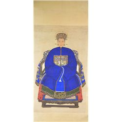 Qing Period Watercolour Portrait Painting