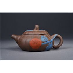 Chinese Painted Yixing Tea Pot