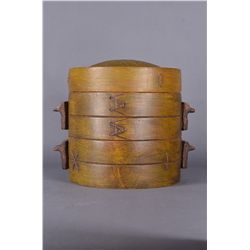 Chinese Yixing Bamboo Style Pottery Container Mark