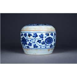 Chinese Blue & White Jar with Cover Ming Xuande