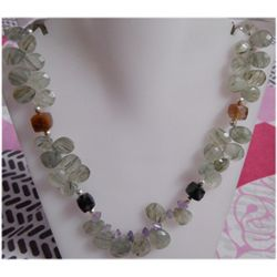 Natural 310.55ct Semi Precious Necklace .925 Sterling