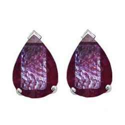 Natural 2.10 ctw Ruby Pear Shape Earrings .925 Sterling