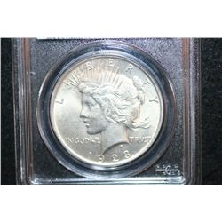 1923 Peace $1; PCGS Graded MS62
