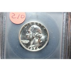 1954 Washington Quarter; ICG Graded PR69