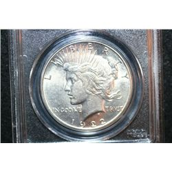 1922-S Peace $1; PCGS Graded Genuine
