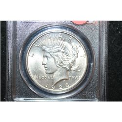 1926-D Peace $1; PCGS Graded Genuine