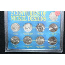 Two Centuries of Nickel Designs; 1883-2005; Lot of 9
