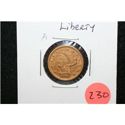 1878 Liberty $2 1/2 Gold Coin