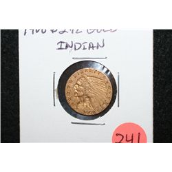 1908 Indian Chief $2 1/2 Gold Coin