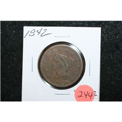 1842 Large One Cent