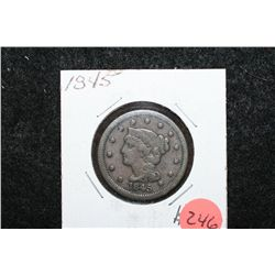 1845 Large One Cent