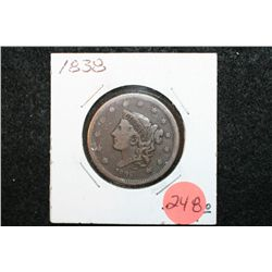 1838 Large One Cent