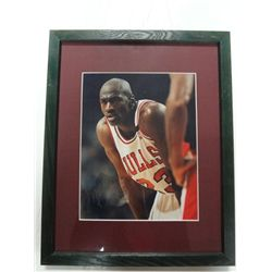 MICHAEL JORDAN AUTOGRAPHED 8X10 PHOTO IN NICE MATTED FRAME COA BY HOWARDS