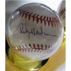 RICKY HENDERSON AUTOGRAPHED BASEBALL