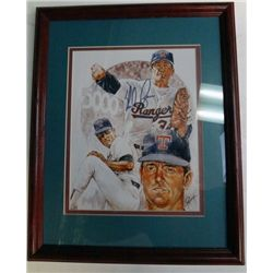 NOLAN RYAN AUTOGRAPHED 8X10 PETRONELLA IN FRAME COA BY HOWARDS