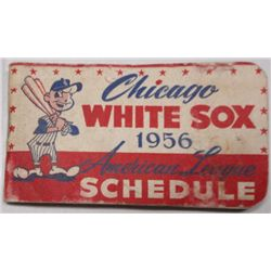 1956 CHICAGO RED SOX SCHEDULE