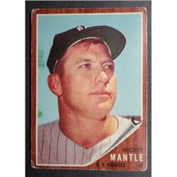 1962 Topps #200 Mickey Mantle Good-VG Book $600