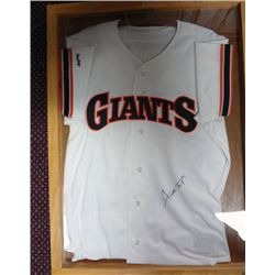 WILLEY MAYS GAME USED AUTOGRAPHED JERSEY  IN DISPLAY CASE COA BY HOWARDS