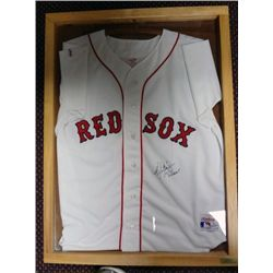 ROGER CLEMENS AUTOGRAPHED JERSEY IN DISPLAY CASE