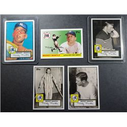 Mickey Mantle Card Lot (8 diff) All MINT